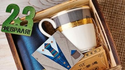 Мужские подарочные боксы в отделе «Любимый чай»!